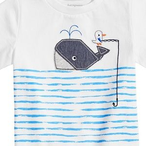 First Impressions Shirts & Tops - NWT First Impressions Whale Graphic T-Shirt 18mo